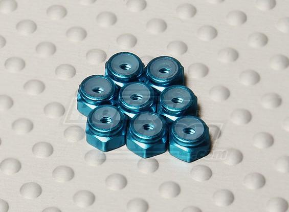 Blu Alluminio anodizzato M2 Nylock Dadi (8pcs)