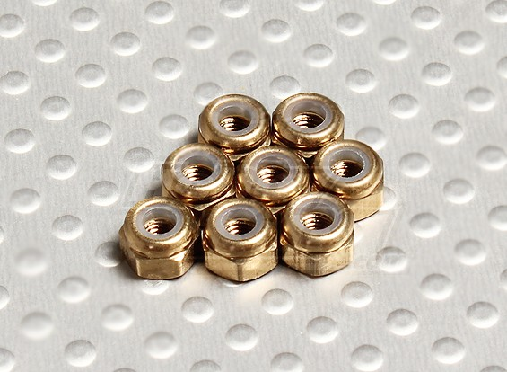 In titanio color alluminio anodizzato M3 Nylock Nuts (8pcs)