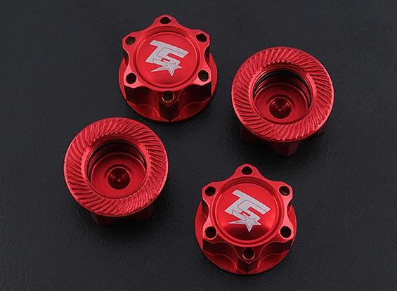 Trackstar 1/8 di scala in alluminio Wheel Nuts (4pcs / bag)