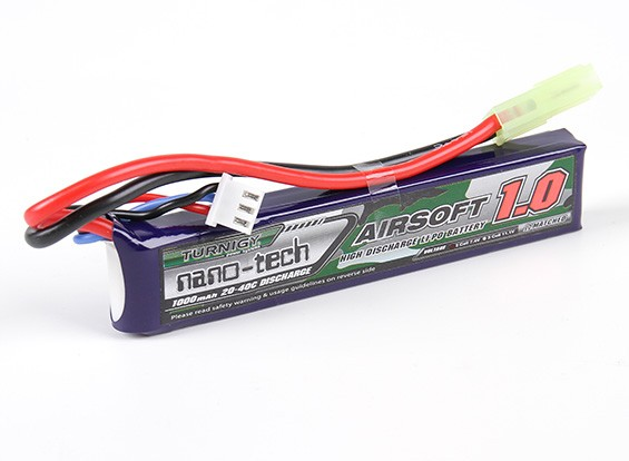 Turnigy nano-tech 1000mah 2S 20 ~ 40C Lipo AIRSOFT Confezione