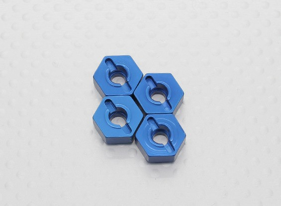 1/10 scala in alluminio esagonale Hub 12 mm - Blu (4PC)