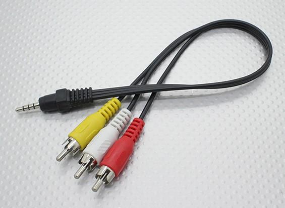 Da 3,5 mm a RCA stereo maschio A Spine / V piombo (300 mm)