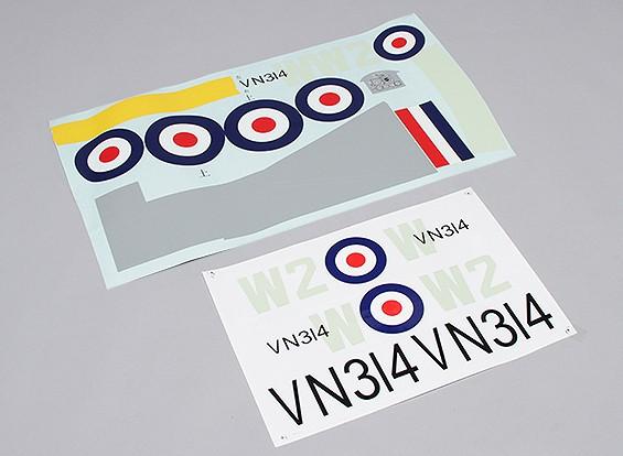 Durafly ™ Supermarine Spitfire Mk 24 - Sticker Sostituzione