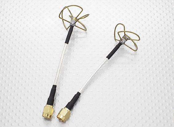5.8 GHz circolare polarizzata dell'antenna RP-SMA (trasmettitore e ricevitore)
