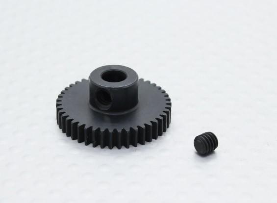 43T / 5mm 48 Pitch acciaio temperato pignone