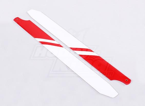 360 millimetri di carbonio / fibra di vetro composito principale Blade (bianco / rosso)