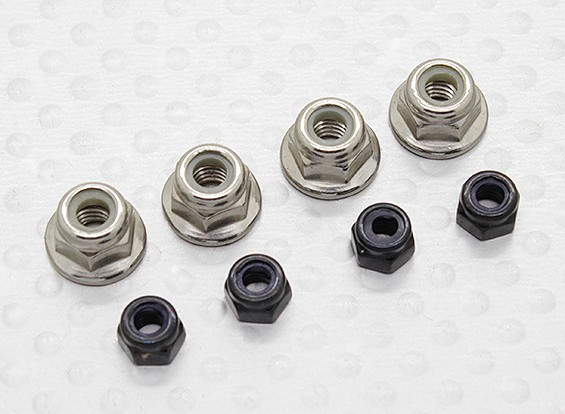 Nylock Nut Set - 1/10 Dipartimento Funzione Mission-D 4WD GTR Drift auto (8pcs)