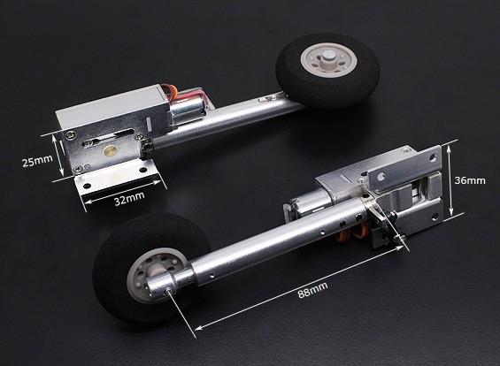 Turnigy completa Servoless metallo 100 gradi Twist n Accendere ritrae con 88mm Oleo gambe (2 pezzi)