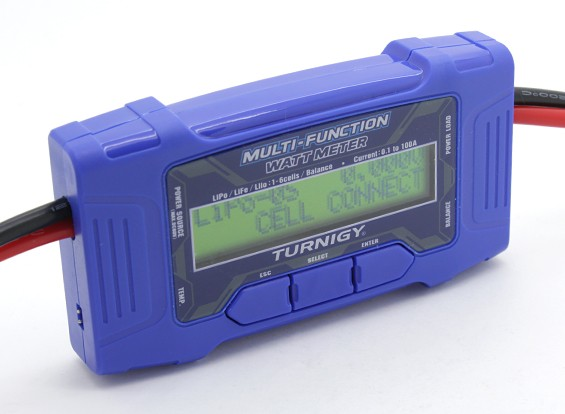 Turnigy 100A 60V Multi Function Watt Meter w / sensore temperatura