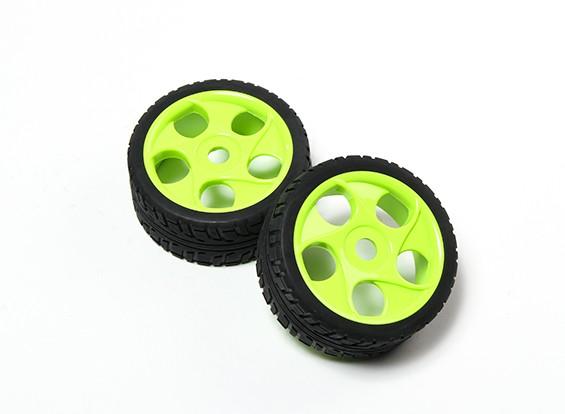 HobbyKing® 1/8 stella a razze verde fluorescente per ruote e pneumatici 17 millimetri on-road Hex (2pc)