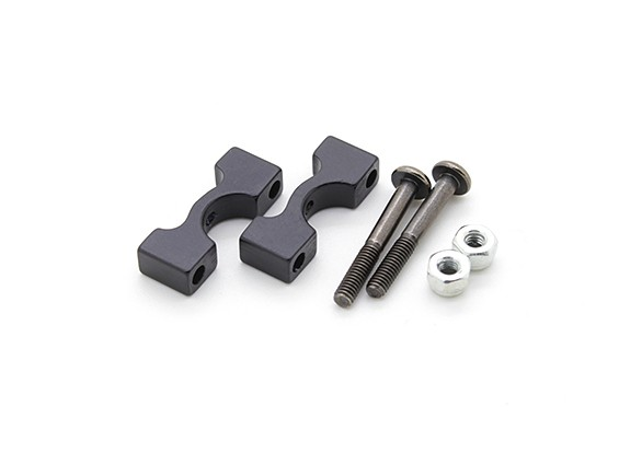 Anodizzato nero di alluminio di CNC del tubo morsetto diametro 8mm