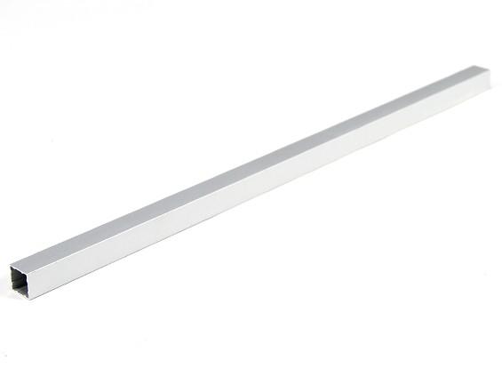 Alluminio Tubo quadrato fai da te multi-rotore 12.8x12.8x340mm (.5Inch) (argento)