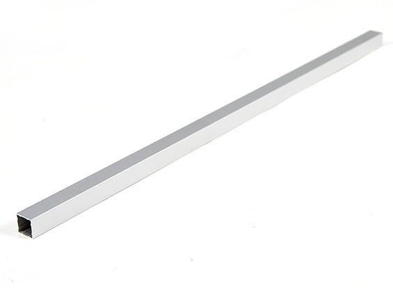 Alluminio Tubo quadrato fai da te multi-rotore 12.8x12.8x400mm (.5Inch) (argento)