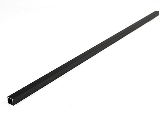 Alluminio Tubo quadrato fai da te multi-rotore 12.8x12.8x600mm (.5Inch) (Nero)