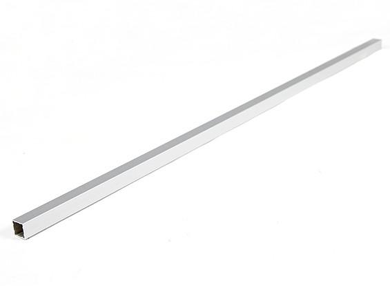 Alluminio Tubo quadrato fai da te multi-rotore 12.8x12.8x600mm (.5Inch) (argento)