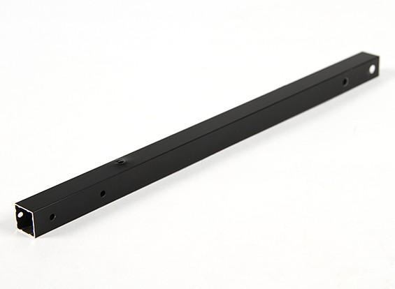 Alluminio Tubo quadrato fai da te multi-rotore 12.8x12.8x250mm X525 (.5Inch) (Nero)