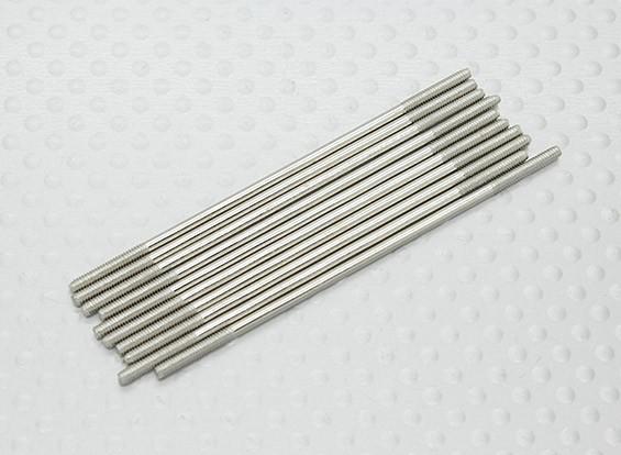 M2 spinta x 65mm in acciaio Rod (10pc)