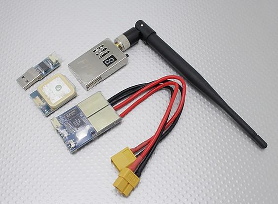 Skylark All-in-1 OSD (1.2G TX) 1000mW con la macchina fotografica e GPS