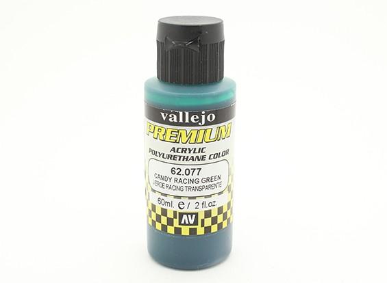 Vallejo Premium colore vernice acrilica - Candy Racing Green (60ml)