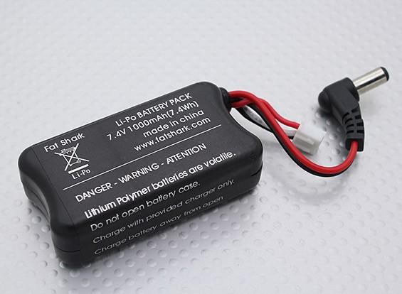 Fatshark FPV - Cuffia Batteria 7.4V 1000mah w / Banana carica di piombo