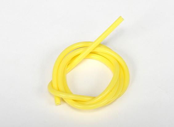 Heavy Duty silicone Fuel tubo giallo (Nitro) (1 mtr)