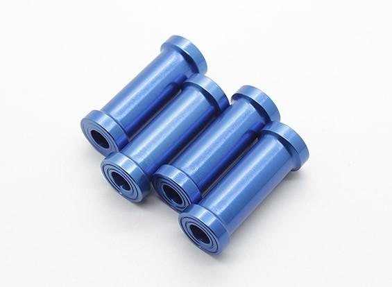 30 millimetri di alluminio di CNC distanziatori (blu) 4 pezzi
