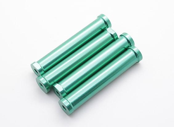 M4 x 60mm CNC alluminio distanziatori (verde) 4 pezzi