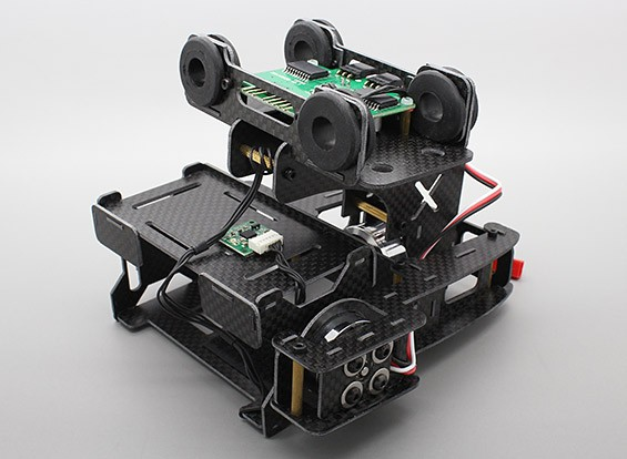 X-Cam X100B 2 assi brushless fotocamera Gimbal per GoPro (Plug and Play)