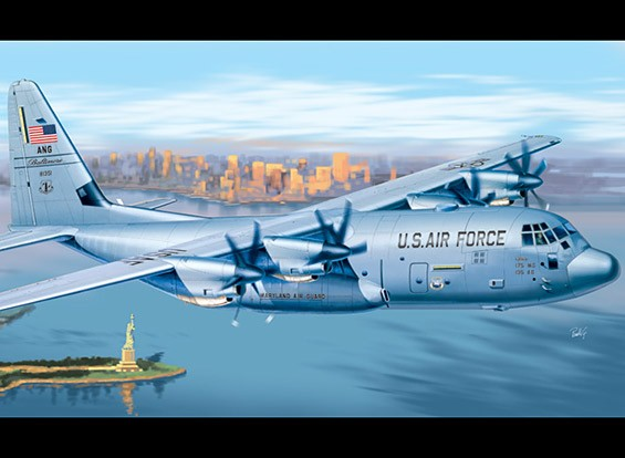 Italeri 1/72 Scale Kit C-130J Hercules plastica Modello