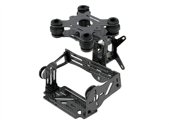 Kit in fibra di carbonio GoPro Brushless 2 Axis Gimbal con Damping