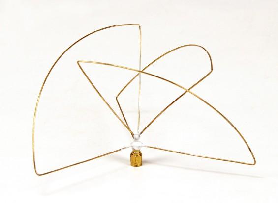 Circolare polarizzata 900MHz trasmettitore antenna (SMA) (LHCP) (Short)