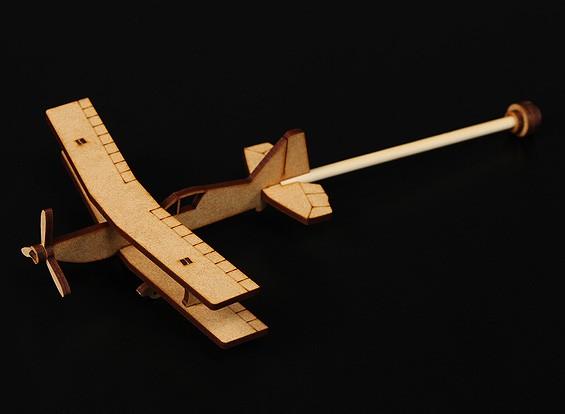 Ultimo Pratica Stick Aereo Laser Cut Modello Wood (Kit)
