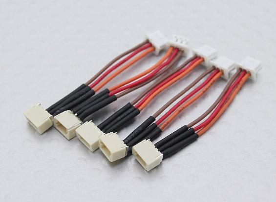 JST (Molex) 1,00 millimetri femminile a 1,25 millimetri adattatore maschio (5pcs)