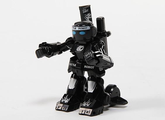 2ch Mini R / C Battaglia Robot con il caricatore (nero)