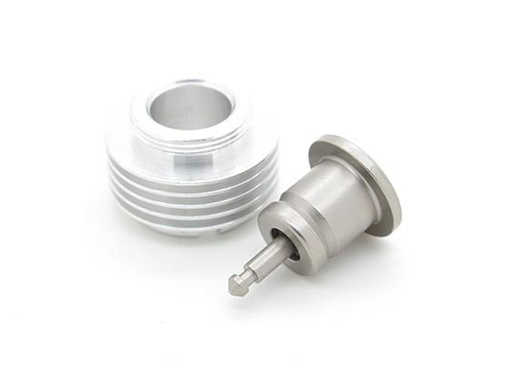 Cox .049 -.051 Glow Plug Adapter con raffreddamento supplementare (5 Fin)