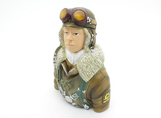 World War 2 pilota giapponese (H115 x W79 x D47mm)