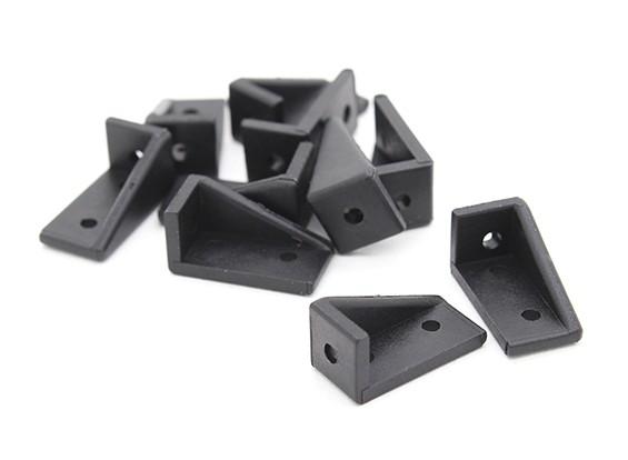 RotorBits 20x10 ad angolo retto staffa LH (nero) (10pcs / bag)