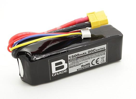 B-Grade 1500mAh 3S 20C Lipoly Batteria
