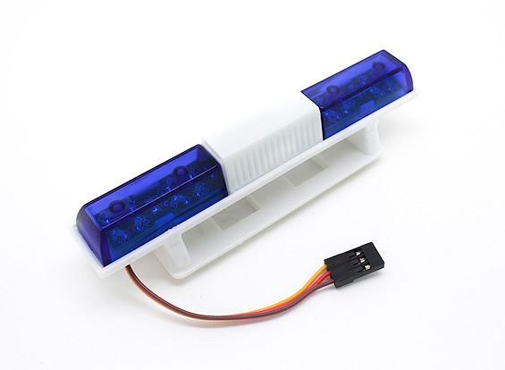 Sistema di illuminazione della polizia LED Car Squared Style (blu)