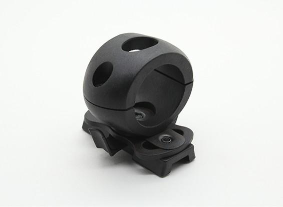 FMA 25 millimetri supporto della torcia elettrica per Railed del casco (nero)