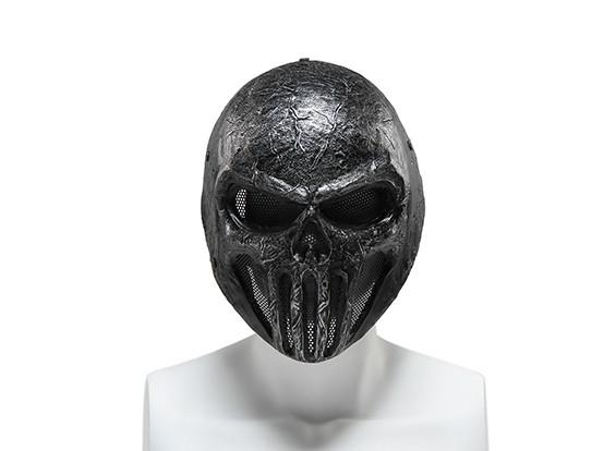 FMA rete metallica Maschera completa (Skull Punisner, grigio)