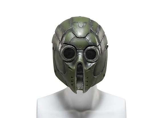FMA rete metallica maschera completa (Verde Mostro)