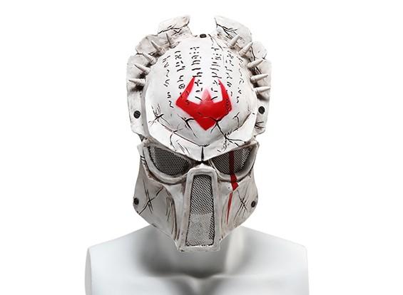FMA rete metallica maschera completa (Wolf 6.0, Bianco)