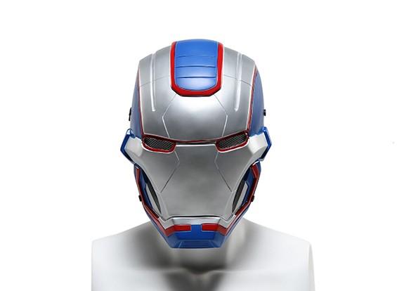 FMA rete metallica maschera completa (Ironmask3 blu)