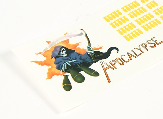 Art Nose - Apocalypse 250 x 85 millimetri autoadesiva Sticker Set