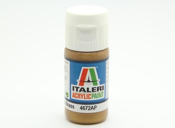 Italeri vernice acrilica - metallo lucido Ottone