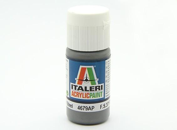 Italeri vernice acrilica - Metal Flat Acciaio