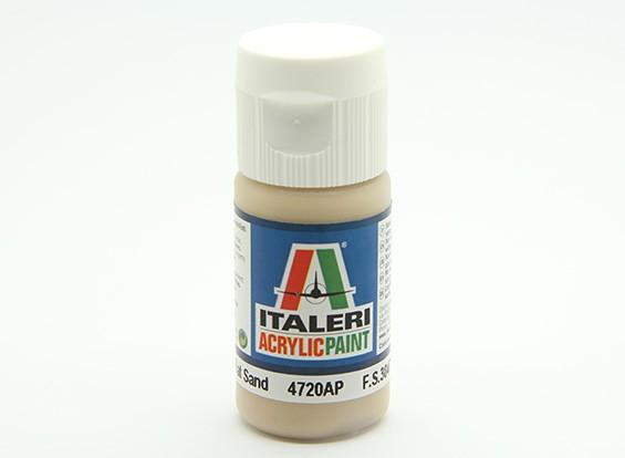Italeri vernice acrilica - Sand piatto