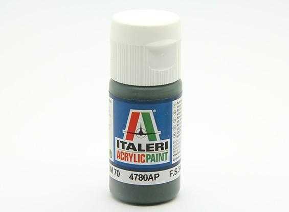 Italeri vernice acrilica - Schwarzgrun RLM 70