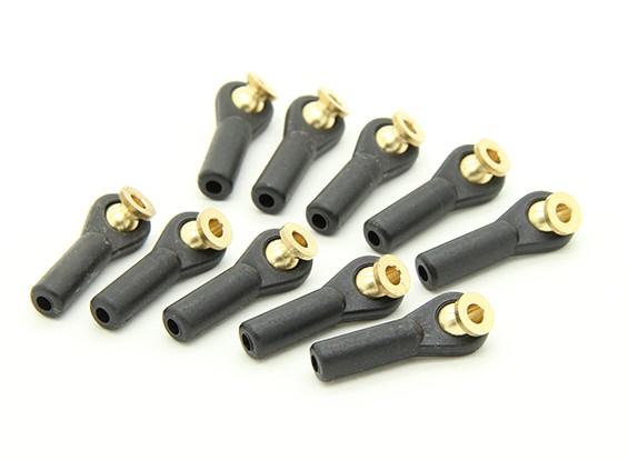 Heavy Duty Ball Link 27 millimetri M3 Nero (10pcs)